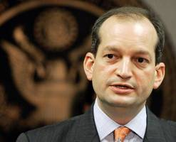 final member of trump's cabinet alexander acosta confirmed as labor secretary