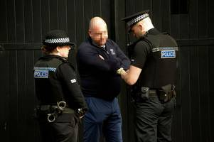 police swoop on man amid claims he confronted former rangers owner craig whyte outside court