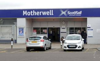 yob belts out the billy boys before attacking scotrail employee at train station