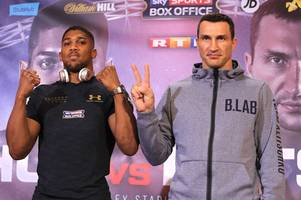 wladimir klitschko records anthony joshua fight prediction on usb stick that he'll auction off for charity after heavyweight title bout