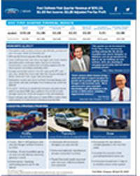 Ford Delivers First Quarter Revenue of $39.1B; $1.6B Net Income; $2.2B Adjusted Pre-Tax Profit