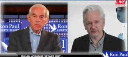 the cia has been deeply humiliated - watch ron paul interview julian assange