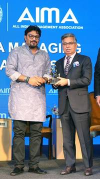 pawan munjal - led hero motocorp adjudged 'indian mnc of the year' by all india management association