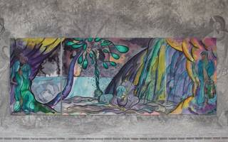 chris ofili: weaving magic at national gallery is a powerful little show