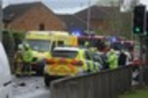 man arrested as driver describes horror of being 'trapped' in...