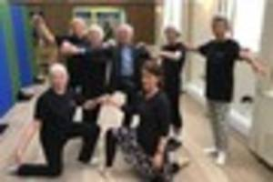 wayne sleep passes on tips to dancers in exeter at opening of...