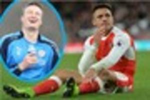 arsenal striker alexis sanchez mocked by robert huth with picture...