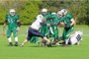 leicester falcons begin their british american football season...