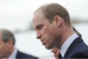 Prince William landed in a helicopter in Gloucestershire today