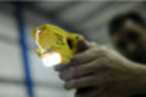 police taser 'agitated' man who was becoming danger to public