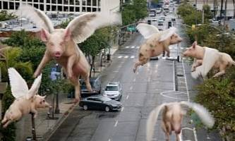pigs fly in commercial, as 2017 chrysler pacifica hybrid gets 84 mpge