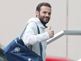 Manchester United and Juan Mata check into the Lowry Hotel