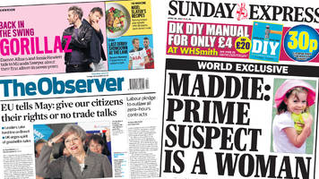The Papers: 'Brexit battle' begins and Madeleine suspect