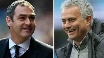 man utd v swansea city: paul clement faces 'professor' jose mourinho