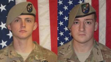 friendly fire may have killed 2 us army rangers in afghanistan