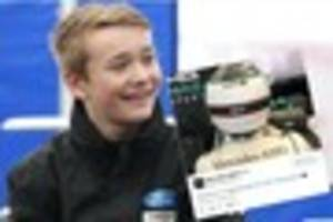 billy monger: f1 stars show support through #billywhizz signs at...