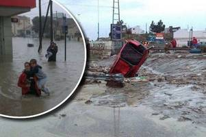 parts of welsh patagonia have been left devastated by the worst rain in four decades