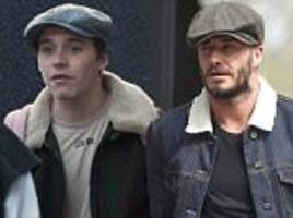 brooklyn beckham steps out in outfit inspired by dad david