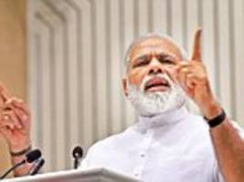 modi goes on the offensive on flashing red beacons