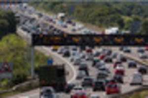 Man spotted running in and out of traffic on M5