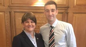 arlene foster all smiles at ibrox but celtic crush rangers