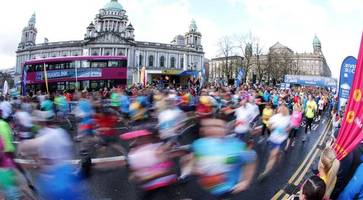 watch live: belfast city marathon sees thousands pound the streets
