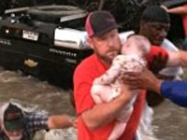 incredible video shows the rescue of a texas family