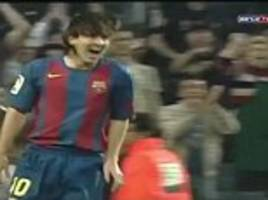 messi scored his first barcelona goal 12 years ago today