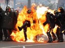 french police use tear gas amid may day protests