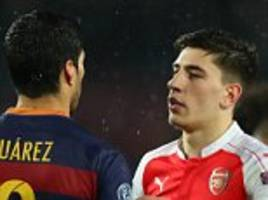 barcelona plan to use arsenal 'chaos' to sign bellerin