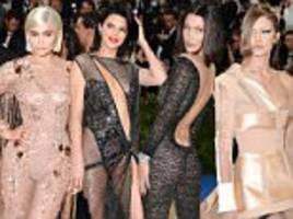 the hadid and jenner sisters stormed at the met gala 2017