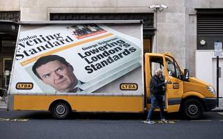 cab drivers to protest george osborne's new role as evening standard editor