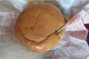 child mcdonald's burger at falmouth came with this screw and his...