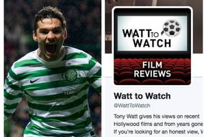 former celtic hero tony watt becomes film critic as he sets up movie review website