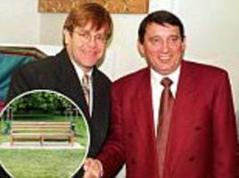sir elton john dedicates park bench to graham taylor