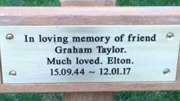 sir elton john pays for park tribute to graham taylor