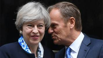 donald tusk: 'don't let brexit emotions get out of hand'