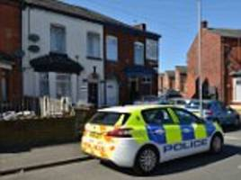 manchester man's leg nearly severed in machete attack