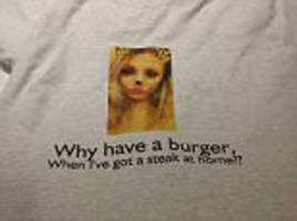 girlfriend gives her man hilarious t-shirt for a stag do