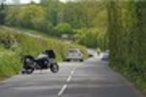 motorcyclist fights for life after crash near totnes - police...