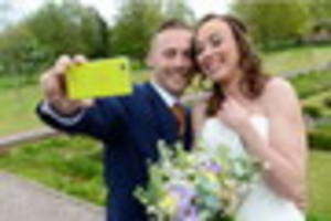 it's a 'perfect' wedding day for selfie couple whose inspiring...