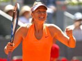 maria sharapova sets up showdown with eugenie bouchard