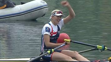 world rowing cup: vicky thornley wins silver on rowing return
