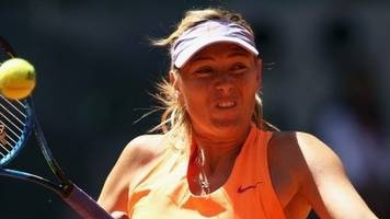 sharapova will face bouchard at madrid open