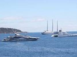 philip green's huge yacht overshadowed by russian yachts
