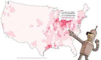 this map shows where robots will steal american jobs