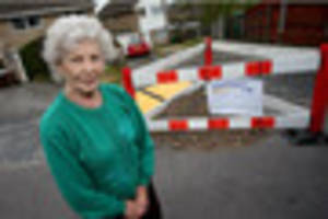 pensioner thanks the post after large hole left her housebound