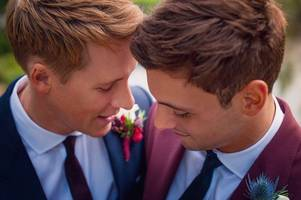 dustin lance black shares adorable wedding snap as he names the day he married tom daley the best day of his life