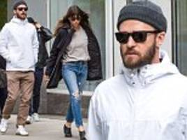 jessica biel storms ahead of justin timberlake in nyc