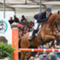 equestrian: olympic riders in national three-day event